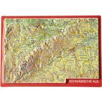 Georelief Maps Reliëf Ansichtkaart Schwäbische Alb