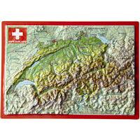 Georelief Maps Reliëf Ansichtkaart Zwitserland
