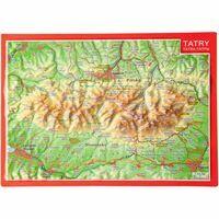 Georelief Maps Reliëf Ansichtkaart Tatra Gebergte