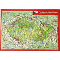 Georelief Maps Reliëf Ansichtkaart Tsjechië