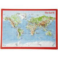 Georelief Maps Reliëf Ansichtkaart Wereld