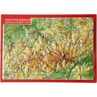 Georelief Maps Reliëf Ansichtkaart Westerzgebirge