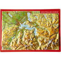 Georelief Maps Reliëf Ansichtkaart Zentralschweiz