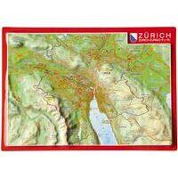 Georelief Maps Reliëf Ansichtkaart Zürich