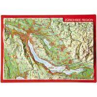 Georelief Maps Reliëf Ansichtkaart Zürichsee Region