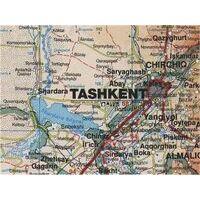 Gizi Map Wandkaart Centraal-Azië Geografisch