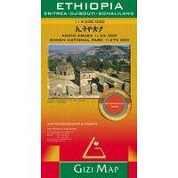 Gizi Map Wegenkaart Ethiopië