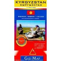 Gizi Map Wegenkaart Kirgizië