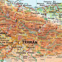 Gizi Map Wegenkaart Iran Geografisch