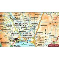 Gizi Map Wegenkaart Macedonië Geografisch