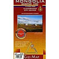 Gizi Map Landkaart Mongolië Geografisch