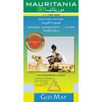 Gizi Map Wegenkaart Mauritanië