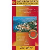 Gizi Map Wegenkaart Montenegro