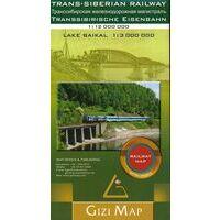 Gizi Map Spoorkaart Trans-Siberian Railway