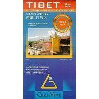 Gizi Map Wegenkaart Tibet