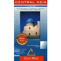 Gizi Map Wegenkaart Centraal Azie Road