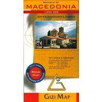 Gizi Map Wegenkaart Macedonië