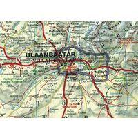 Gizi Map Wegenkaart Mongolië