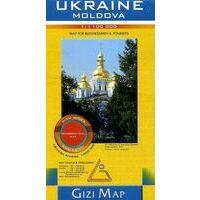 Gizi Map Wegenkaart Oekraïne - Moldavië