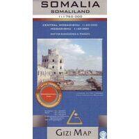 Gizi Map Wegenkaart Somalië