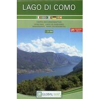 Global Map Wandelkaart Lago Di Como 1:35.000