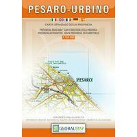 Global Map Wegenkaart Provincies Pesaro E Urbino