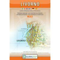 Global Map Wegenkaart Provincie Livorno
