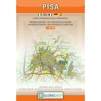Global Map Wegenkaart Provincie Pisa