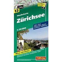 Hallwag Wandelkaart 13 Zürichsee