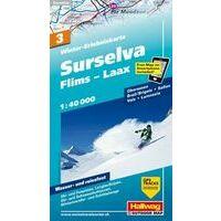 Kummerly En Frey Wintersportkaart 3 Surselva