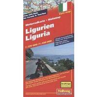 Hallwag Motorwegenkaart Ligurie 1:275.000