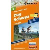 Hallwag Mountainbikekaart 3 Zug Schwyz