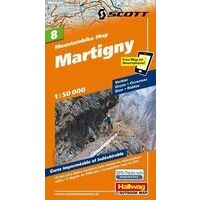 Hallwag Mountainbikekaart 08 Martigny 1:50.000