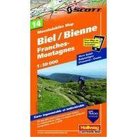 Hallwag Mountainbikekaart 14 Biel Bienne