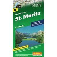 Hallwag Wandelkaart 08 St. Moritz