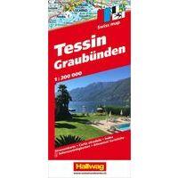 Hallwag Wegenkaart Tessin - Graubünden