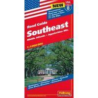 Hallwag Wegenkaart 08 USA Southeast