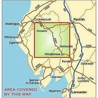 Harvey Maps Klimkaart XT40 Lake District