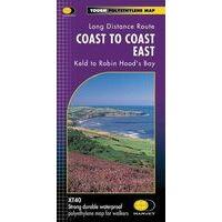 Harvey Maps Wandelkaart XT40 Coast To Coast Oost