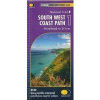 Harvey Maps Wandelkaart XT40 South West Coast Path Deel 1