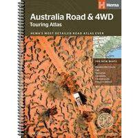 HEMA Maps Wegenatlas Australië Touring Atlas A4-formaat