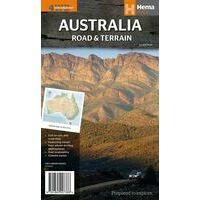 HEMA Landkaart Australië Terrein En Weg