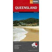 HEMA Landkaart Queensland State Map
