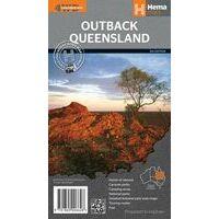 HEMA Queensland Outback Kaart