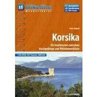 Hikeline Wandelgids Korsika 1:35.000