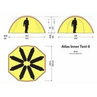 Hilleberg Atlas Inner Tent 8 Personen Binnentent