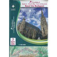 Huber Verlag Fietskaart Set EuroVelo6 Basel - Boedapest