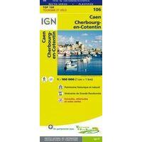 IGN Fietskaart 106 Caen - Cherbourg-en-Cotentin