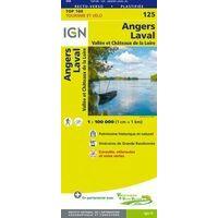 IGN Fietskaart 125 Angers - Laval - Loire Kastelen