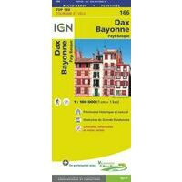 IGN Fietskaart 166 Dax - Bayonne